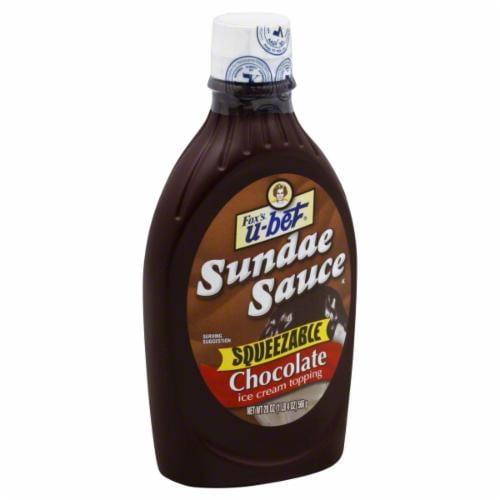 Fox's U-Bet Chocolate Sundae Sauce Perspective: front