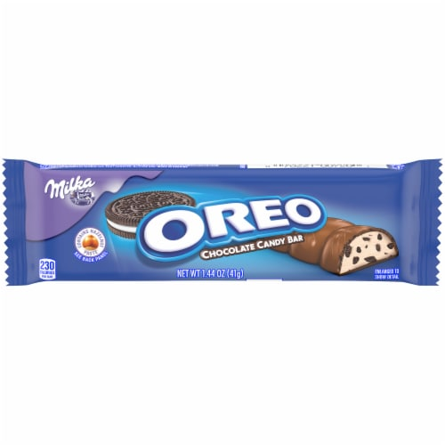 Oreo Milka Chocolate Candy Bar Perspective: front
