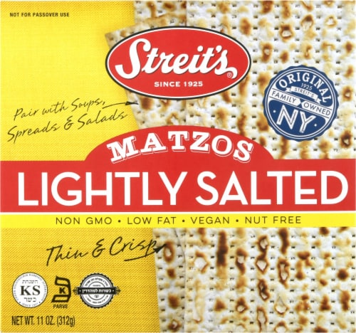 Streit's Lightly Salted Matzos Perspective: front
