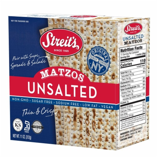 Streit's Unsalted Matzo Perspective: front