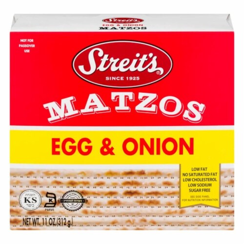 Streit's Egg & Onion Matzo Perspective: front