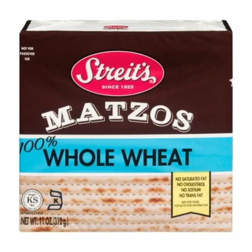 Streit's Whole Wheat Matzos Perspective: front