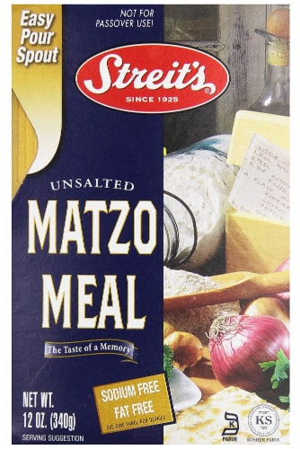 Streit's Unsalted Matzo Meal Perspective: front