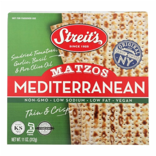 Streit's Mediterranean Matzo Perspective: front