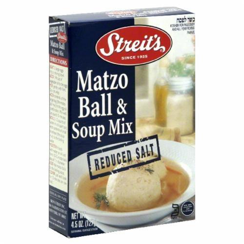 Streit's Matzo Ball No Sodium Soup Mix Perspective: front