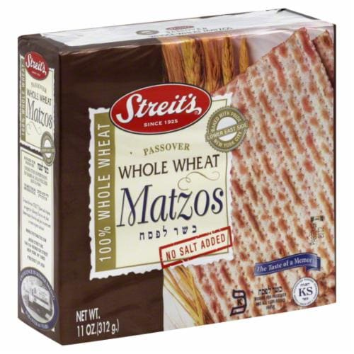 Streit's Whole Wheat Matzo Perspective: front