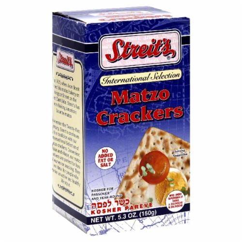 Streit's Matzo Crackers Perspective: front