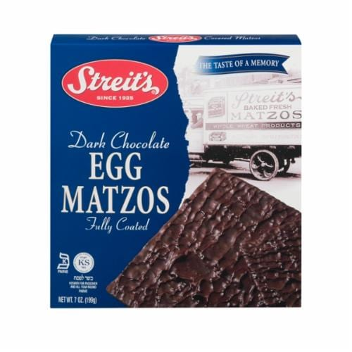 Streit's Chocolate covered Matzo Egg Perspective: front