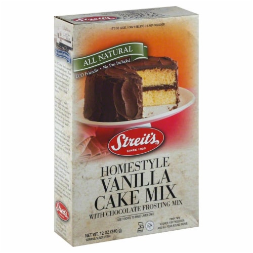 Streit's Yellow Cake Mix with Chocolate Frosting Mix Perspective: front