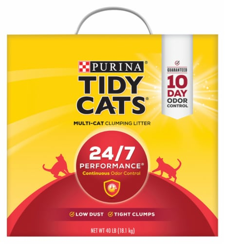 Tidy Cats 24/7 Performance Clumping Multi-Cat Litter Perspective: front