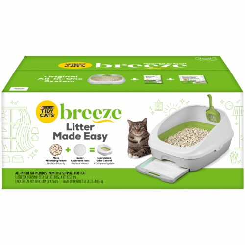 Tidy Cats Breeze Cat Litter Kit Perspective: front