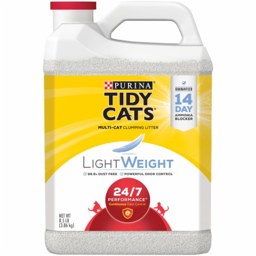 Purina Tidy Cats LightWeight 24/7 Performance Dust Free Clumping Multi Cat Litter Jug Perspective: front