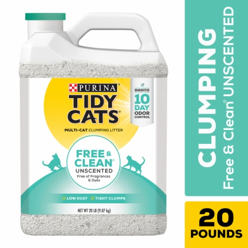 Tidy Cats Free & Clean Unscented Clumping Multiple Cat Litter Perspective: front