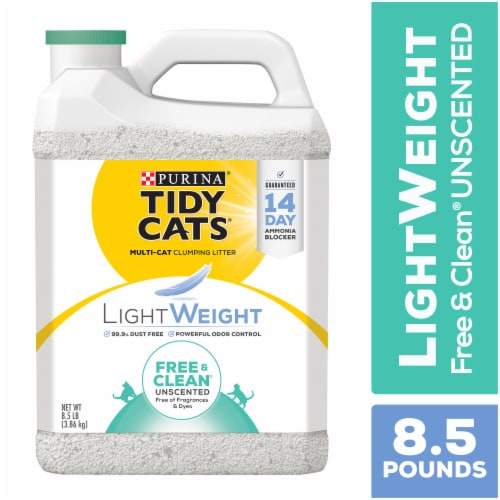 Tidy Cats LightWeight Free & Clean Unscented Clumping Litter for Multiple Cats Perspective: front
