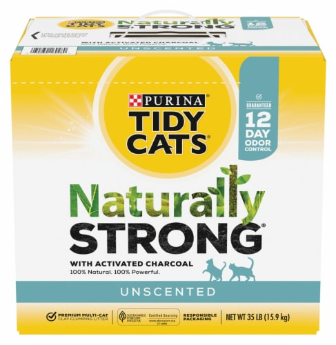 Purina Tidy Cats Natually Strong Unscented Litter Perspective: front