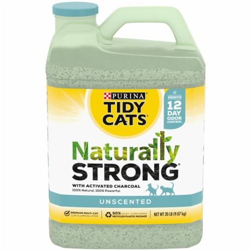 Tidy Cats Naturally Strong Unscented Clumping Cat Litter Perspective: front