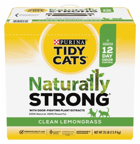 Tidy Cats Natually Strong Clean Lemongrass Litter Perspective: front