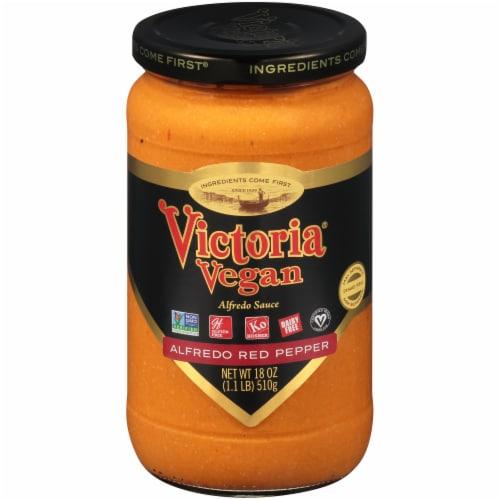 Victoria Vegan Roasted Pepper Alfredo Sauce Perspective: front
