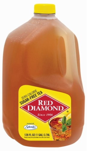 Red Diamond Tea Sugar Free with Splenda Perspective: front