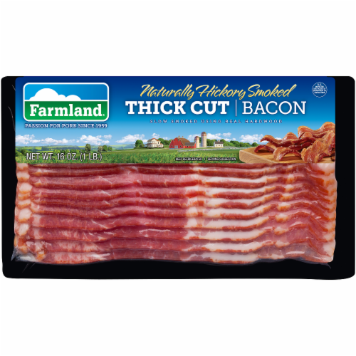 Farmland Naturally Hickory Smoked Thick Cut Sliced Bacon Perspective: front