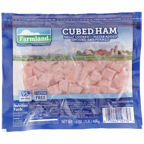 Farmland® Fully Cooked Cubed Ham Perspective: front