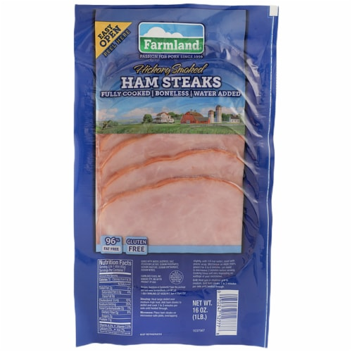 Farmland Ham Steaks Hickory Smoked Perspective: front