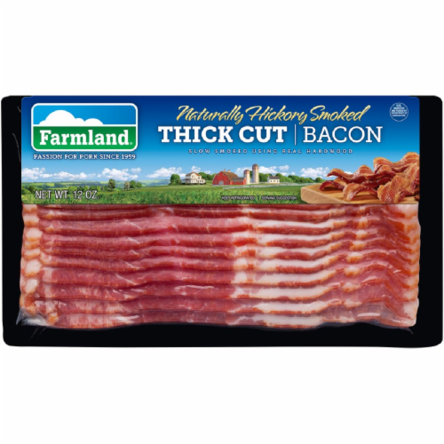 Farmland Naturally Hickory Smoked Thick Cut Bacon Perspective: front