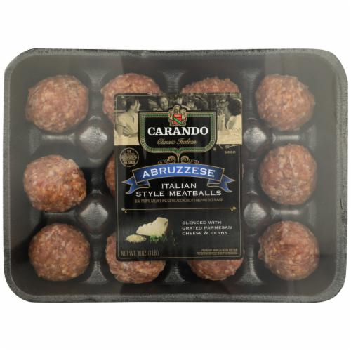 Carando Abruzzese Italian Style Meatballs Perspective: front