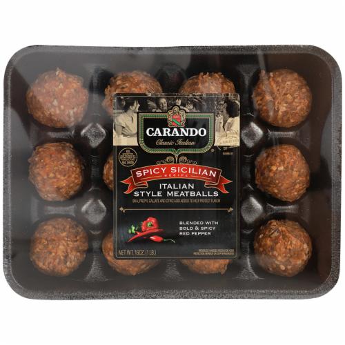 Carando Spicy Sicilian Italian Meatballs Perspective: front
