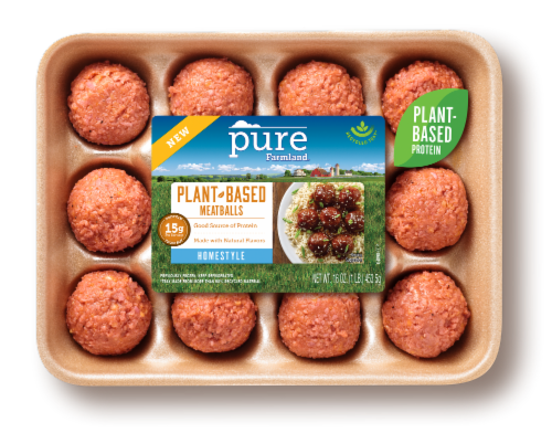 Pure Farmland Homestyle Plant-Based Meatballs 12 Count Perspective: front