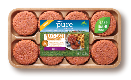 Pure Farmland Plant-Based Maple Breakfast Patties Perspective: front