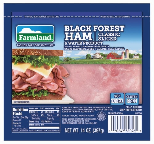 Farmland Classic Sliced Black Forest Ham Perspective: front