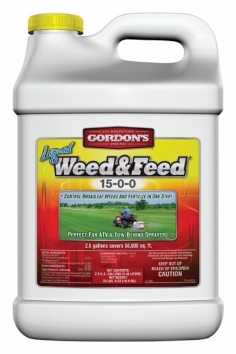 Gordons Concentrate Weed and Feed 2.5 gallon gal. - Case Of: 1 Perspective: front