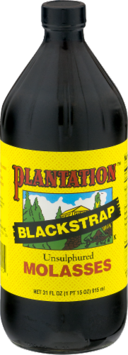 Plantation Blackstrap Unsulphured Molasses Perspective: front