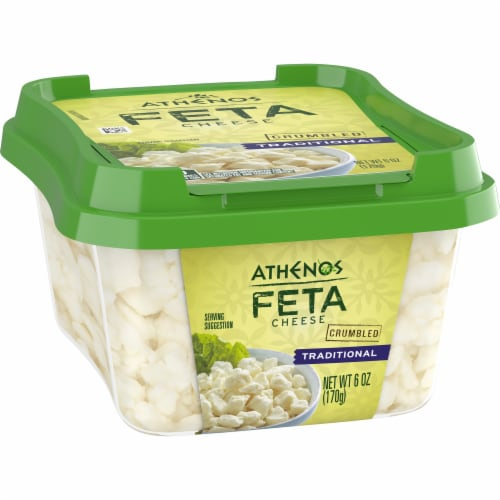 Athenos Crumbled Traditional Feta Cheese Perspective: front