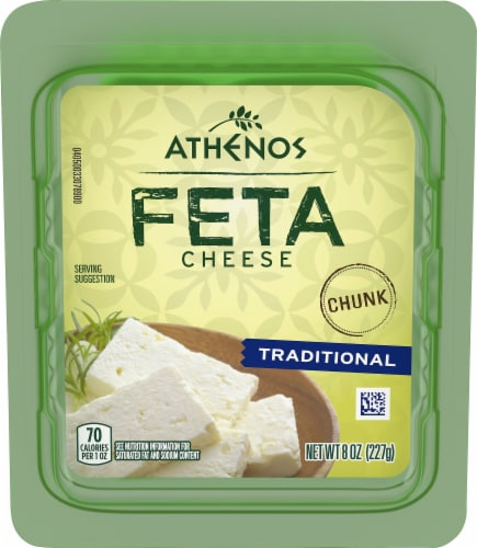 Athenos Chunk Traditional Feta Cheese Perspective: front