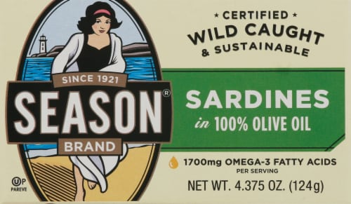 Season Club Sardines in Olive Oil Perspective: front