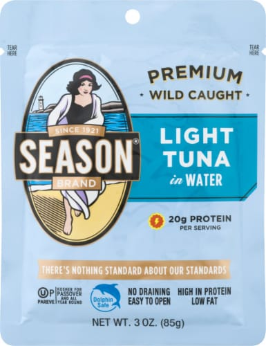Season Brand Natural Light Tuna In Water Perspective: front