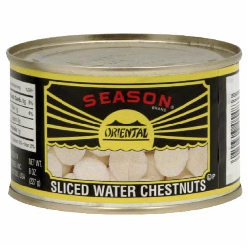 Season Brand Sliced Water Chestnuts Perspective: front