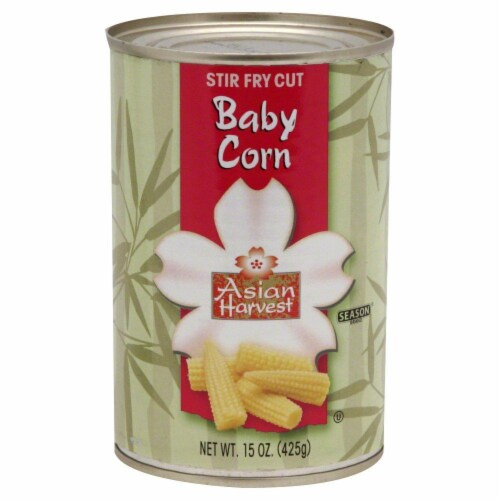 Asian Harvest Stir Fry Cut Baby Corn Perspective: front