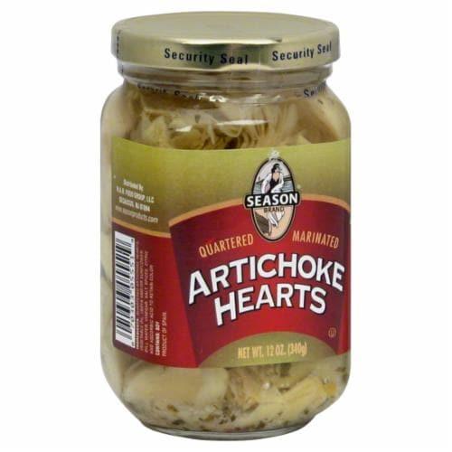 Season Marinated Artichoke Hearts Perspective: front