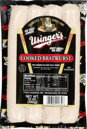 Usinger's™ Cooked Bratwurst Perspective: front