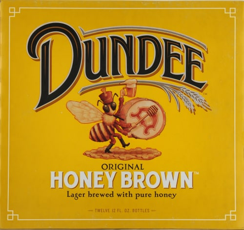 Dundee's Honey Brown Lager Perspective: front
