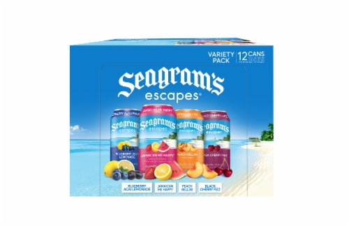 Seagram's Escapes Premium Mal Beverage Variety Pack Perspective: front