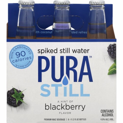 Pura Blackberry Spiked Still Water Perspective: front