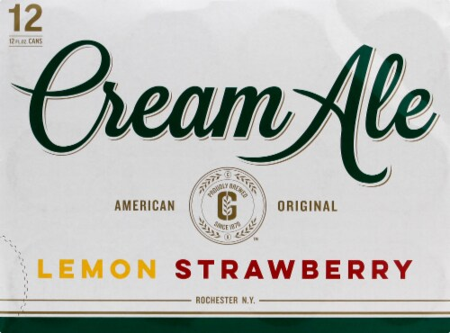 Genesee Lemon Strawberry Cream Ale Perspective: front