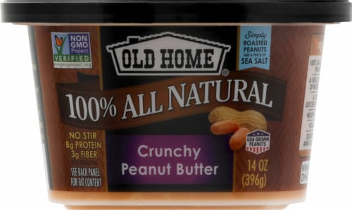 Old Home Crunchy Peanut Butter Perspective: front