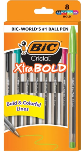 BIC Cristal Xtra-Bold Ball Point Pens - Assorted Perspective: front