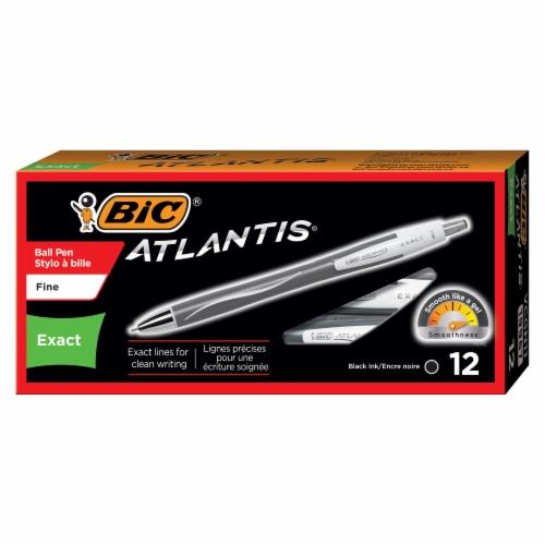 BIC Atlantis Exat Fine Pen - Black Perspective: front
