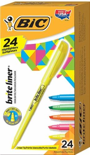 Bic  Brite Liner®  Chisel Tip Fluorescent Highlighter Assorted Perspective: front